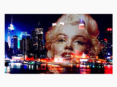 Lavoro in doppia esposizione con photoshop (Merilyn-New York)